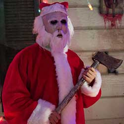 holidays end santa with axe
